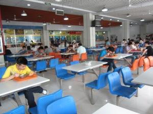 Canteen tables, China Petroleum University, Qingdao