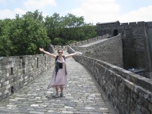 jill on nanjing city wall