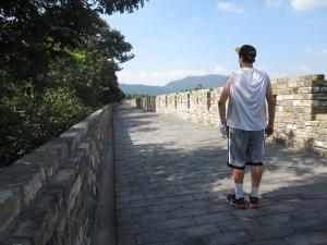 keny on nanjing city wall