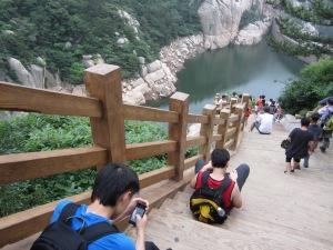 lao shan above the lake