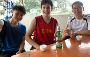 Laoshan beer: a toast after hiking Laoshan