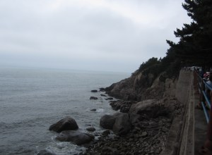 Laoshan holy mountain's rocky coast