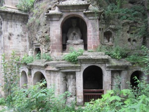nanjing buddha caves by building
