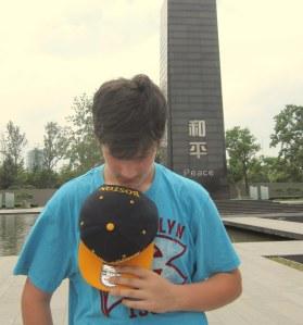 Kenny in Peace Park, outside Nanjing Massacre Memorial Hall, Nanjing