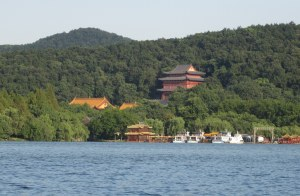 Hangzhou temple on West lake