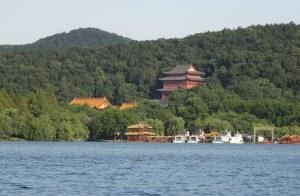 Hangzhou temple on West lake