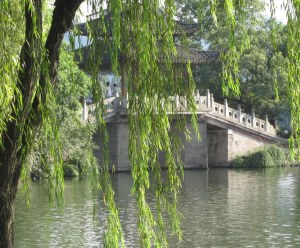 west lake willow and bridge