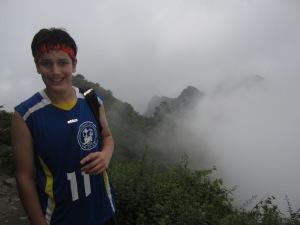 kenny in mist near golden peak